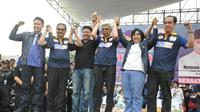 Tiga partai besar memberikan dukungan di Pilkada Sumsel 2018 kepada Herman Deru-Mawardi Yahya (Liputan6.com / Nefri Inge)