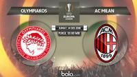 Liga Europa 2018 Olympiakos Piraeus Vs AC Milan (Bola.com/Adreanus Titus)