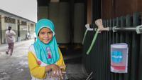 Pemerintah Inggris menggandeng UNICEF dan Unilever mendanai program edukasi terkait kebersihan guna mencegah penyebaran Virus Corona COVID-19. (Copyright:  UNICEF Indonesia/2020/Dinda Veska | Unique identifier: UNI337403)