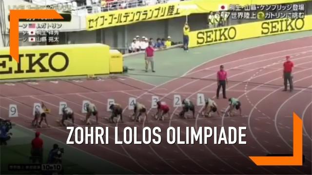 Lalu Muhammad Zohri telah memastikan diri melaju ke Olimpiade Tokyo 2020. Dia finis di posisi ketiga dalam lari 100 meter putra di Golden Grand Prix Osaka 2019, Jepang.