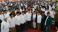 Ma'ruf Amin di Ponpes Cipasung, Tasikmalaya, Jawa Barat (Merdeka.com/Ahda Bayhaqi)