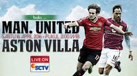 Manchester United vs Aston Villa (Bola.com/Samsul Hadi)