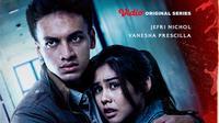 Vidio rilis poster serial Paradise Garden yang dibintangi Jefri Nichol dan Vanesha Prescilla, Sabtu (3/7/2021). (Dok. Vidio)