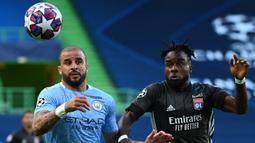 Kyle Walker. Bek kanan yang kini berusia 31 tahun ini didatangkan Manchester City dari Tottenham Hotspur dengan nilai transfer 52,7 juta euro pada 2017/2018. Total 4 musim, ia telah tampil dalam 184 laga dengan torehan 5 gol dan 15 assist. (Foto: AFP/Pool/Franck Fife)