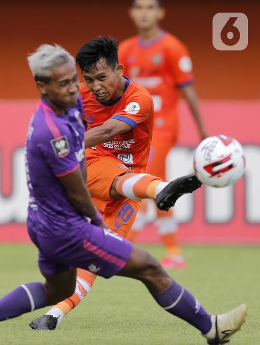 Foto Hattrick Assanur Rijal Bawa Persiraja Taklukkan Persita Bola Liputan6 Com