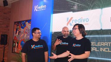 Umang Rustagi, Akshay Garg, Alie Tan selaku Founder Team dari Kredivo. (Dok: Kredivo)