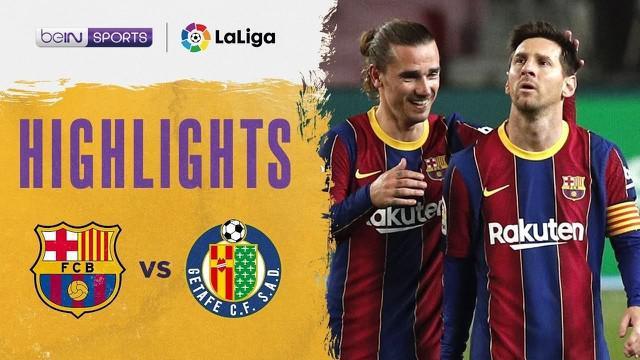 Berita video Barcelona pesta gol saat menghadapi Getafe pada pekan ke-31 Liga Spanyol 2020/2021, Jumat (23/4/2021) dinihari WIB.