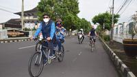 Jalur khusus pesepeda sepanjang 6,3 kilometer di Kota Purwokerto. (Foto: Liputan6.com/Humas Pemkab Banyumas)