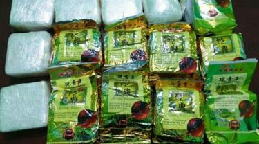 Barang bukti narkoba jenis sabu yang pernah disita dari jaringan narkoba internasional di Riau.