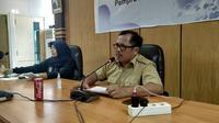 Kadis Kesehatan Sulbar Muhammad Alif Satria saat konfrensi pers