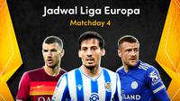 Pertandingan keempat Liga Europa 2020/2021 dapat disaksikan melalui platform streaming Vidio, Jumat (27/11/2020) dini hari WIB. (Sumber: Vidio)