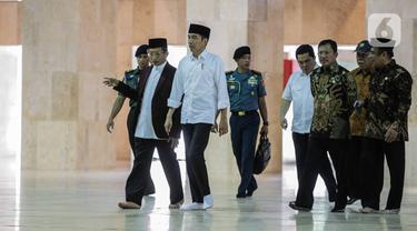 Jokowi Tinjau Sterilisasi Masjid Istiqlal