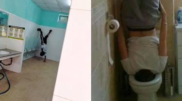 6 Kelakuan Orang Banyak Gaya di Toilet Ini Bikin Heran