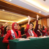 Pembekalan Finalis Puteri Indonesia 2018 oleh BNN Ali Johardi (Adrian Putra/bintang.com)