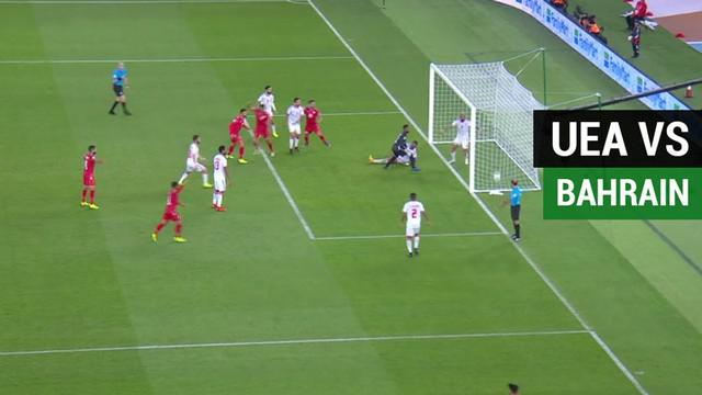 Berita video highlights laga pembuka Piala Asia 2019, UEA (Uni Emirat Arab) melawan Bahrain yang berakhir dengan skor 1-1, Sabtu (5/1/2019).