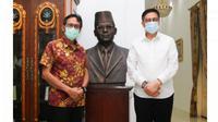 Gubernur Sumbar bertemu dengan Anggota DPR RI Komisi III, yang juga bakal calon Gubernur Sumbar Mulyadi. (Istimewa)