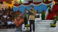Wakil Presiden Jusuf Kalla saat memberikan sambutan pada puncak perayaan Haornas 2016 di Stadion Gelora Delta Sidoarjo, Jawa Timur, Jumat (9/9) malam. (Dokumentasi Kemenpora)
