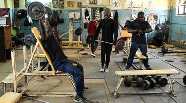 Mengintip Tempat Latihan Para Binaragawan Kenya