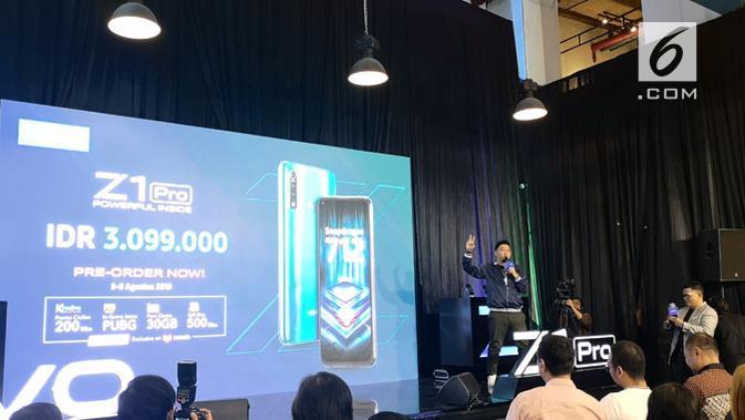 Vivo Z1 Pro resmi diungkap, berapa harganya? (Liputan6.com/ Agustinus Mario Damar)