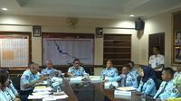 Kantor Wilayah Kementerian Hukum dan HAM Jawa Barat menggelar jumpa pers di Bandung, Rabu (19/6/2019). (Liputan6.com/Huyogo Simbolon)