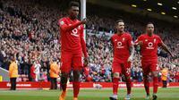 Liverpool's Daniel Sturridge celebrates scoring their third goal Action Images via Reuters / Carl Recine