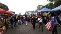 Suasana Stadion Shah Alam jelang semifinal SEA Games 2017 yang mempertemukan tuan rumah Malaysia dan Timnas Indonesia U-22, Sabtu (26/8/2017). (Liputan6.com/Cakrayuri Nuralam)