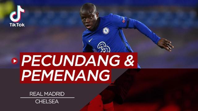 Berita video tiktok Bola.com tentang pemain yang tampil layaknya pemenang dan pecundang pada duel Chelsea vs Real Madrid.