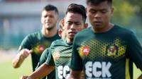 Andik Vermansah dalam sesi latihan jelang melawan PKNS. (Bola.com/Dok. Facebook Kedah FA)