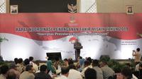 Direktur Jenderal Penanganan Fakir Miskin, Andi ZA Dulung saat kegiatan Rapat Koordinasi Penanganan Fakir Miskin Tahun 2019 di Makassar.