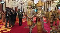 Gabungan Perkumpulan Penyelenggara Pernikahan Indonesia (GPPPI) menggelar simulasi pernikahan dengan protokol kesehatan. (Liputan6.com/Putu Elmira)