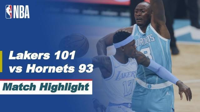 Berita video highlight NBA, Los Angels Lakers Kalahkan Charlotte Hornets 101-93,Rabu (14/4/2021).