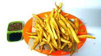 Masyarakat Gorontalo mengenal stik Goroho sebagai salah satu menu buka puasa favorit, terlebih bagi mereka penderita diabetes. (Liputan6.com/ Arfandi Ibrahim)