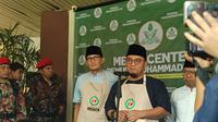 Sandiaga Uno menyambangi Kantor Pimpinan Pusat (PP) Pemuda Muhammadiyah di Menteng. (Liputan6.com/Nafiysul Qodar)