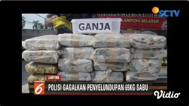 Sembilan orang kurir diamankan. Untuk menyelundupkan narkoba ke Jakarta, para pelaku memodifikasi kendaraan.