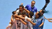 Tim futsal Iran menempati peringkat ketiga Piala Dunia Futsal 2016. (AFP/Luis Robayo)