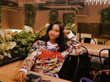 Lebby Wilayati keponakan Dewi Persik ini sudah terjun ke dunia hiburan dengan mengeluarkan single Wik Wik Cinta. (Liputan6.com/IG/@lebbywilayati)