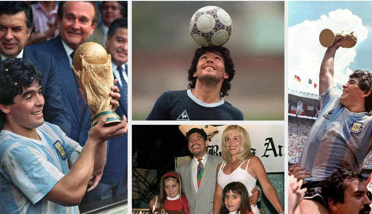 Keberhasilan Argentina menjuarai Piala Dunia 1986 di Meksiko menjadi tonggak terpenting dalam karier sepak bola Maradona. ( AFP Photo )