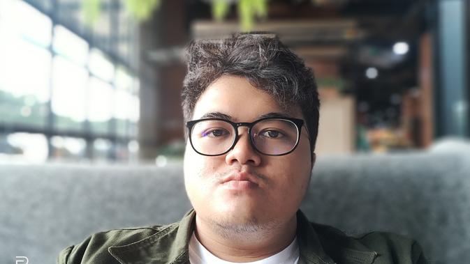 Hasil tangkapan kamera depan Realme 3 Pro (Liputan6.com/Agustinus M.Damar)