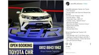Toyota C-HR sudah bisa dipesan melalui diler resmi Toyota, Auto2000 (IG:auto2000_indonesia)