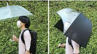 Perusahaan di Jepang mengeluarkan payung canggih untuk menutupi ransel agar tetap kering saat hujan. (Dok Thanko/Muhammad Thoifur)
