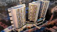 Transit Oriented Development (TOD) Stasiun Tanjung Barat, Jagakarsa, Jakarta Selatan. (Ilyas/Liputan6.com)