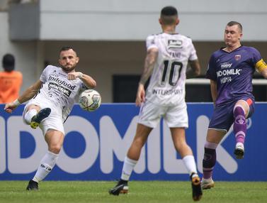 Foto: Dua Gol Ilija Spasojevic Tentukan Kemenangan Bali United 2-1 atas Persita Tangerang dalam BRI Liga 1