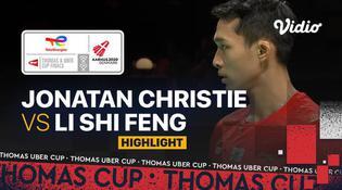 VIDEO Final Piala Thomas 2020: Indonesia Juara! Jonatan Christie Tutup Kemenangan Indonesia Vs China 3-0