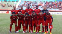 Timnas Indonesia sebelum berlaga melawan Myanmar (Andrian Martinus)