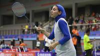 Tunggal putri Iran Samin Abedkhojasteh. (Humas PP PBSI)