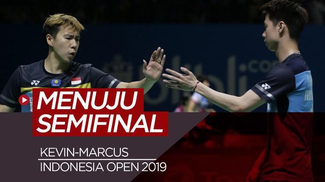 Berita Video Menang Mudah atas wakil China, Kevin/Marcus Menuju Semifinal di Indonesia Open 2019