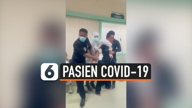 Seorang pasien COVID-19 mengamuk di RSUD Pasar Minggu, Jakarta Selatan. Kapolsek Metro Pasar Minggu Kompol Bambang Handoko mengatakan kemarahan pasien karena ingin segera mendapat kamar perawatan.