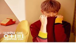 Sibuk dengan kegiatan grup seperti konser dunia dan rilis album baru, penampilan Bae Jinyoung selalu tampil keren dan tampan. Seperti rambut coklat ini saat bersiap rilis mini album keduanya tahun lalu. (Liputan6.com/Instagram/@wannaone.official)