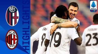 Berita video gol-gol yang tercipta saat AC Milan mengalahkan Bolgona 2-1 pada pekan ke-20 Liga Italia 2020/2021, Sabtu (30/1/2021) malam hari WIB.