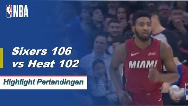 Tobias Harris mengumpulkan 23 poin dan meraih 11 papan saat Philadelphia menjatuhkan Miami.